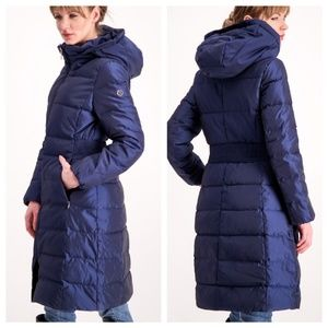 Calvin Klein XL Down Quilted Long Mid-length Coat